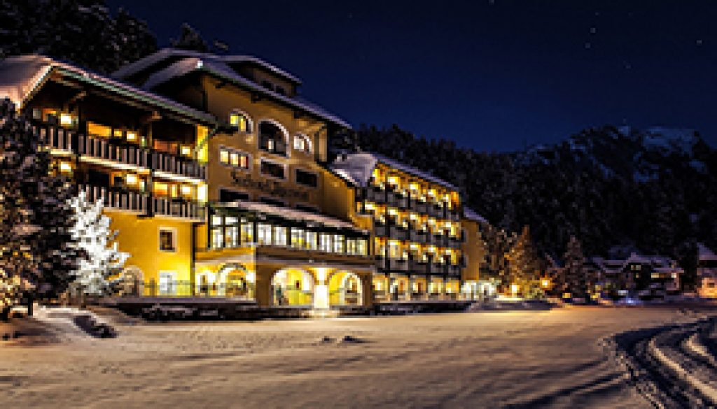 hotel with snow